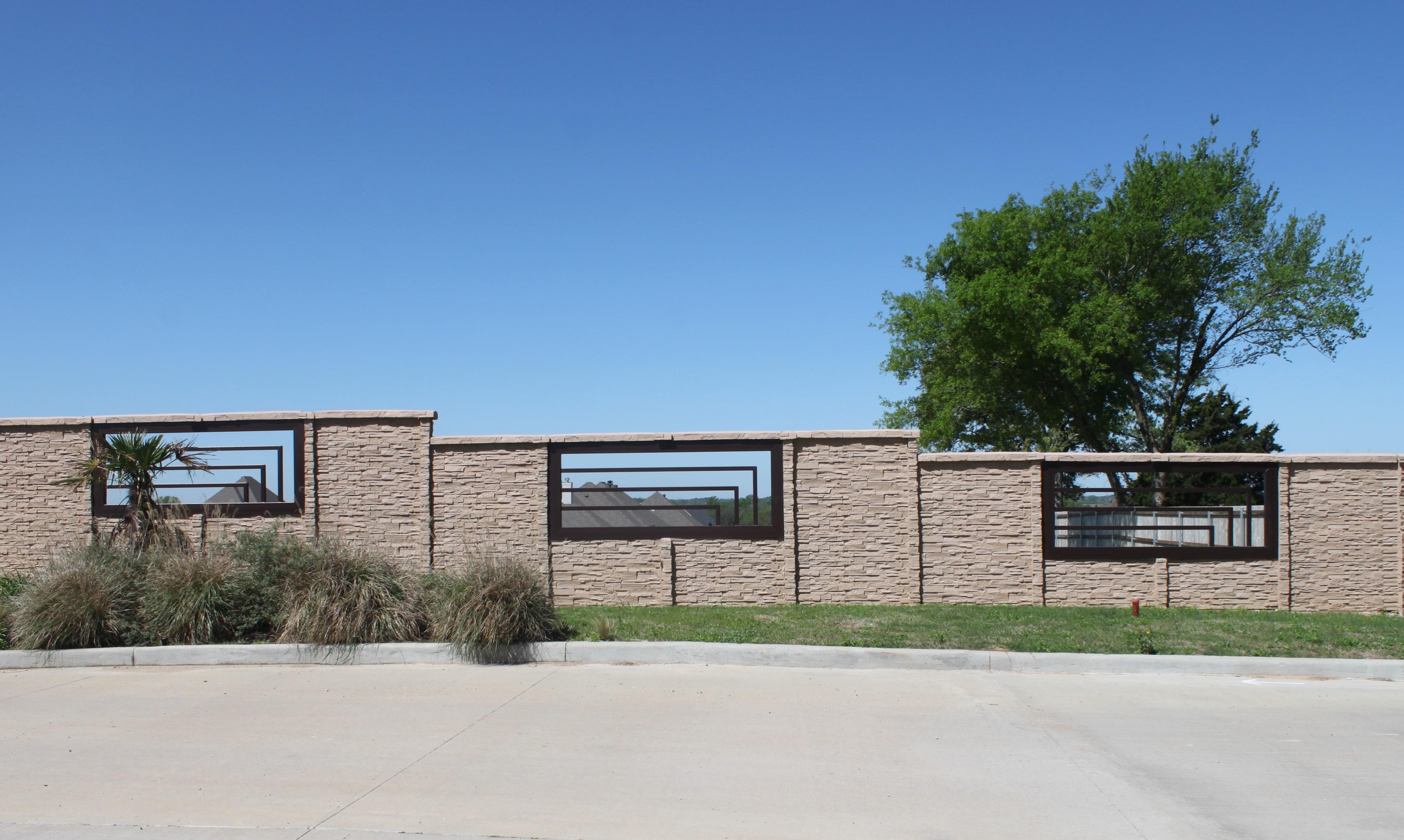 precast concrete fence system