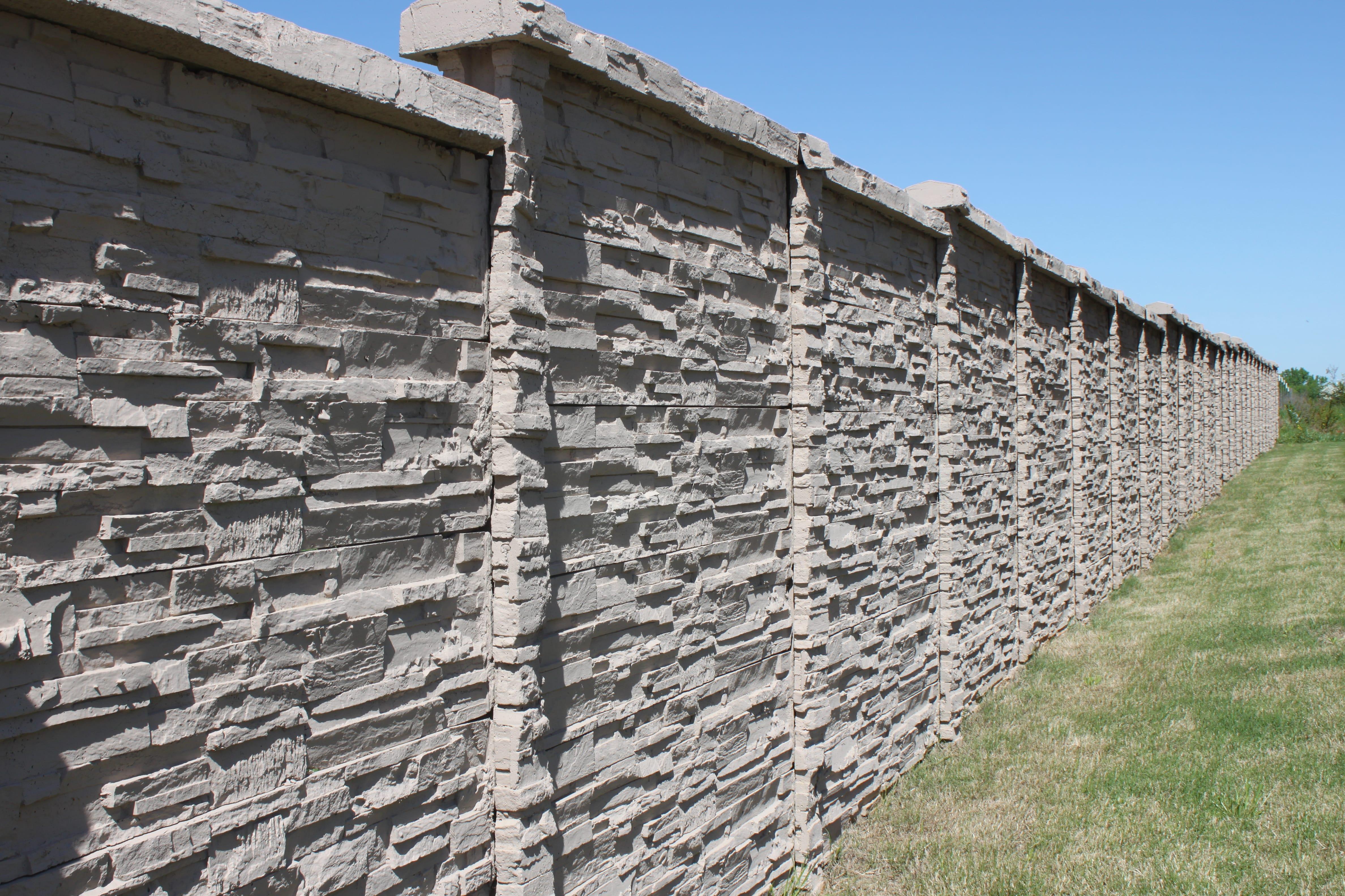 concrete fence stone wall
