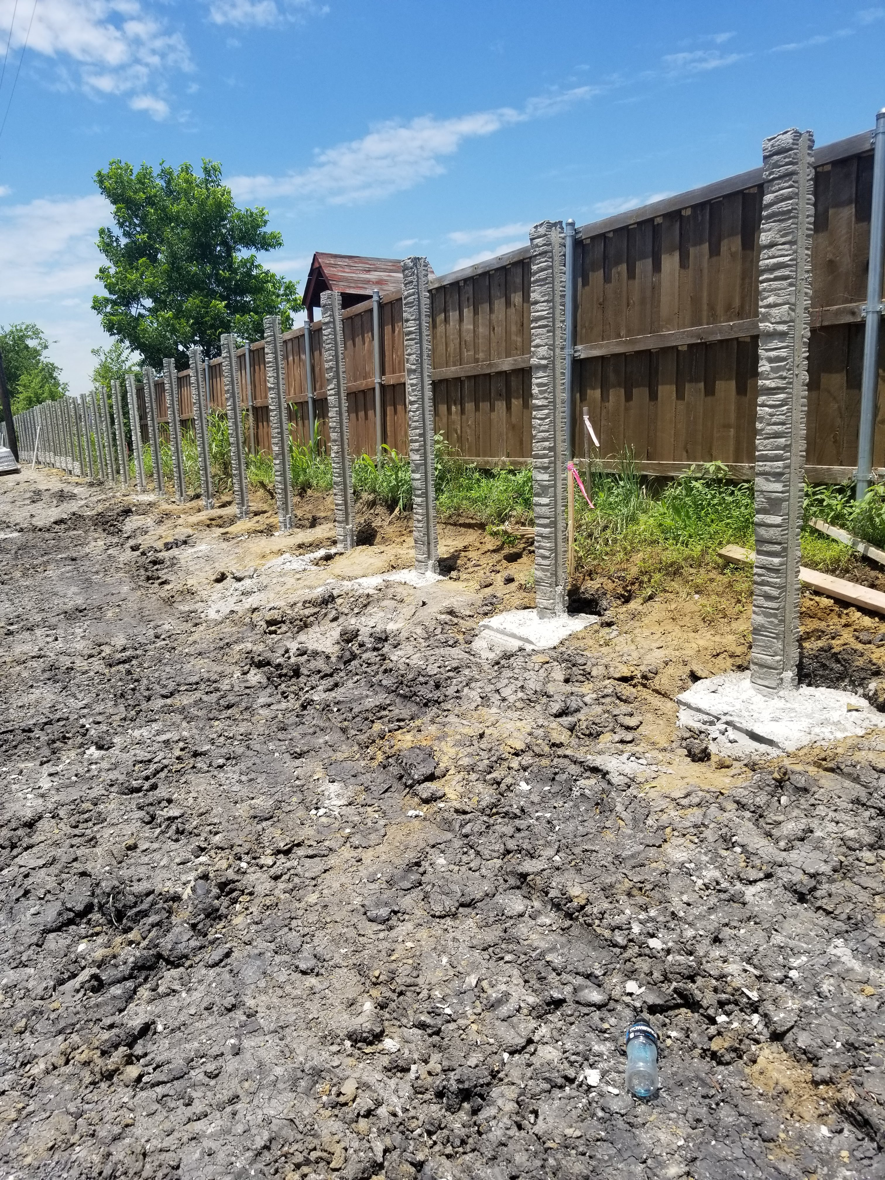 concrete fence post installation