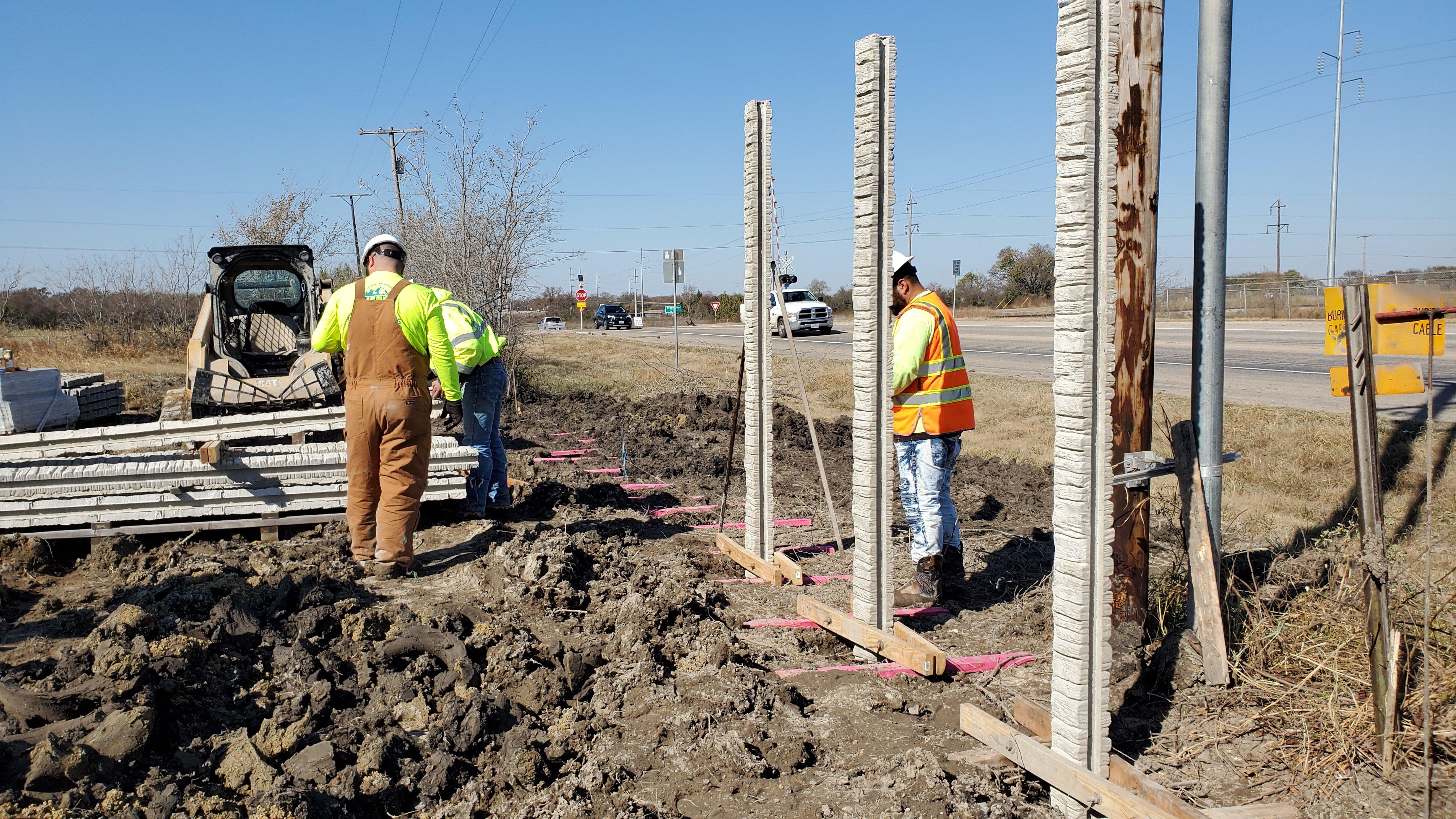 Concrete Fence Contractor