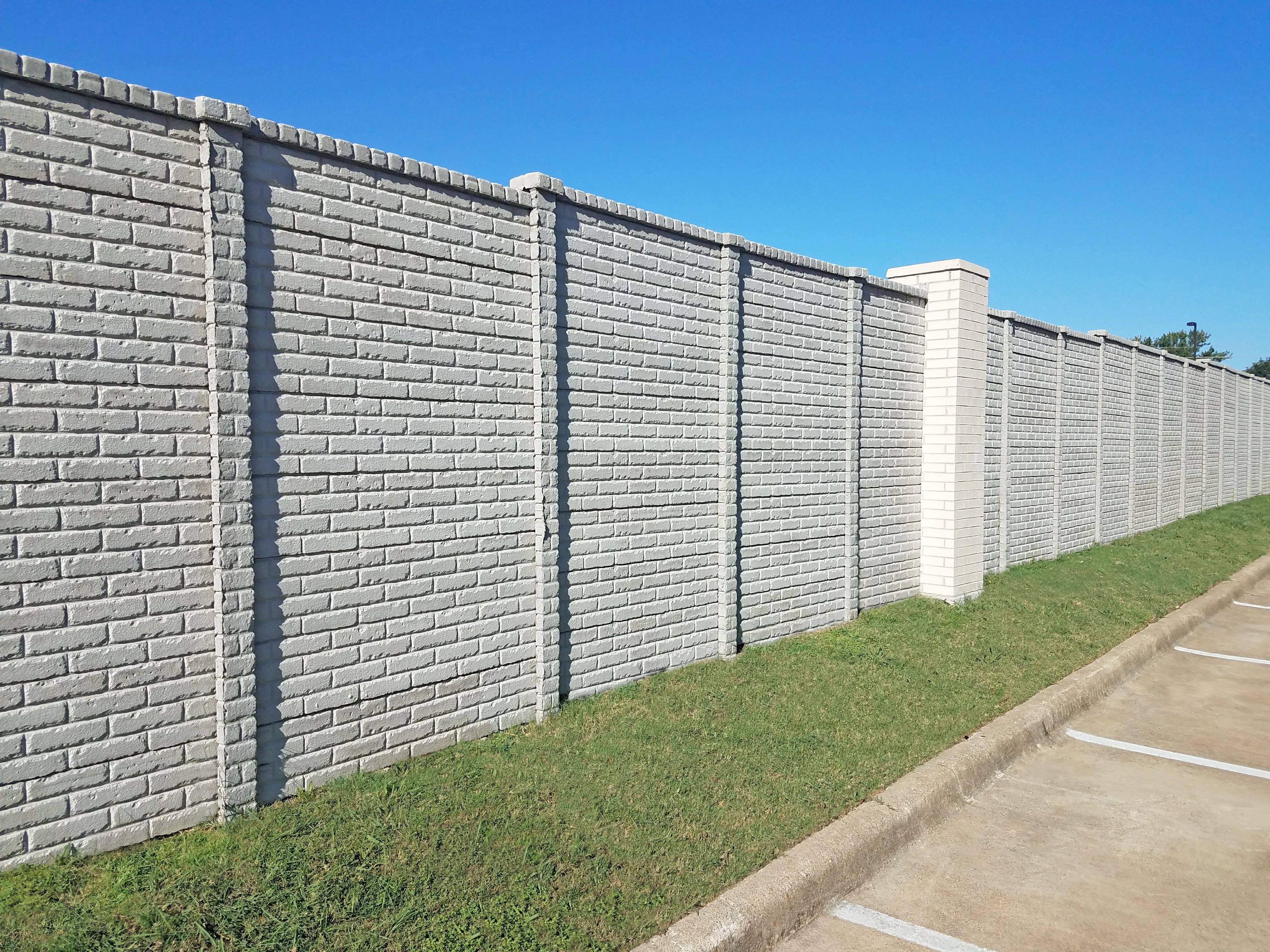precast concrete fence brick pattern
