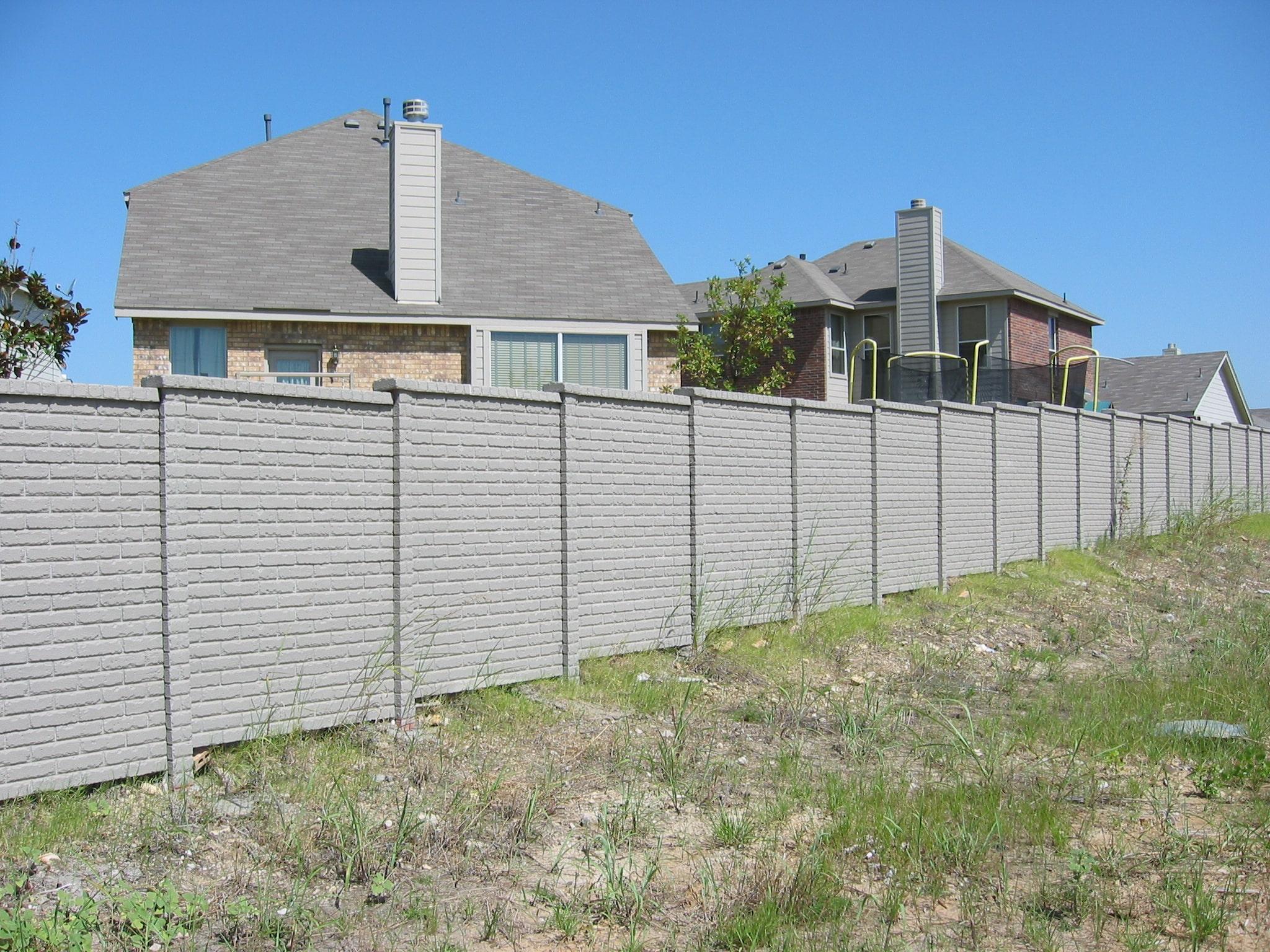 OldBrick Concrete Fence Austin, TX 2