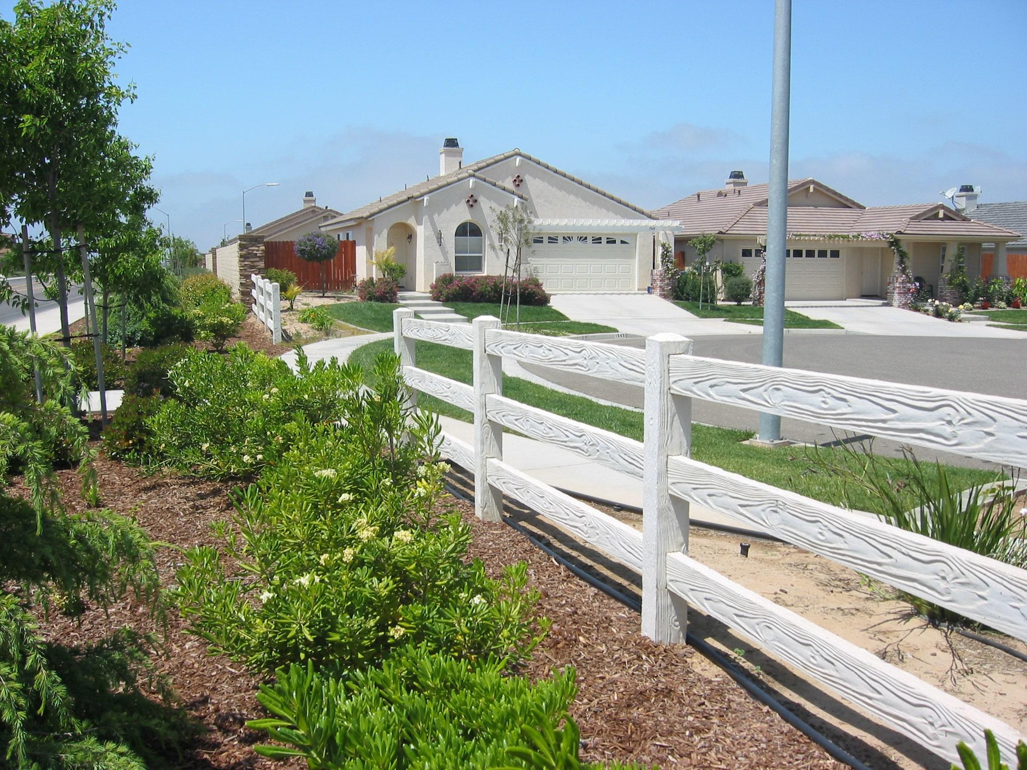 concrete rail fence