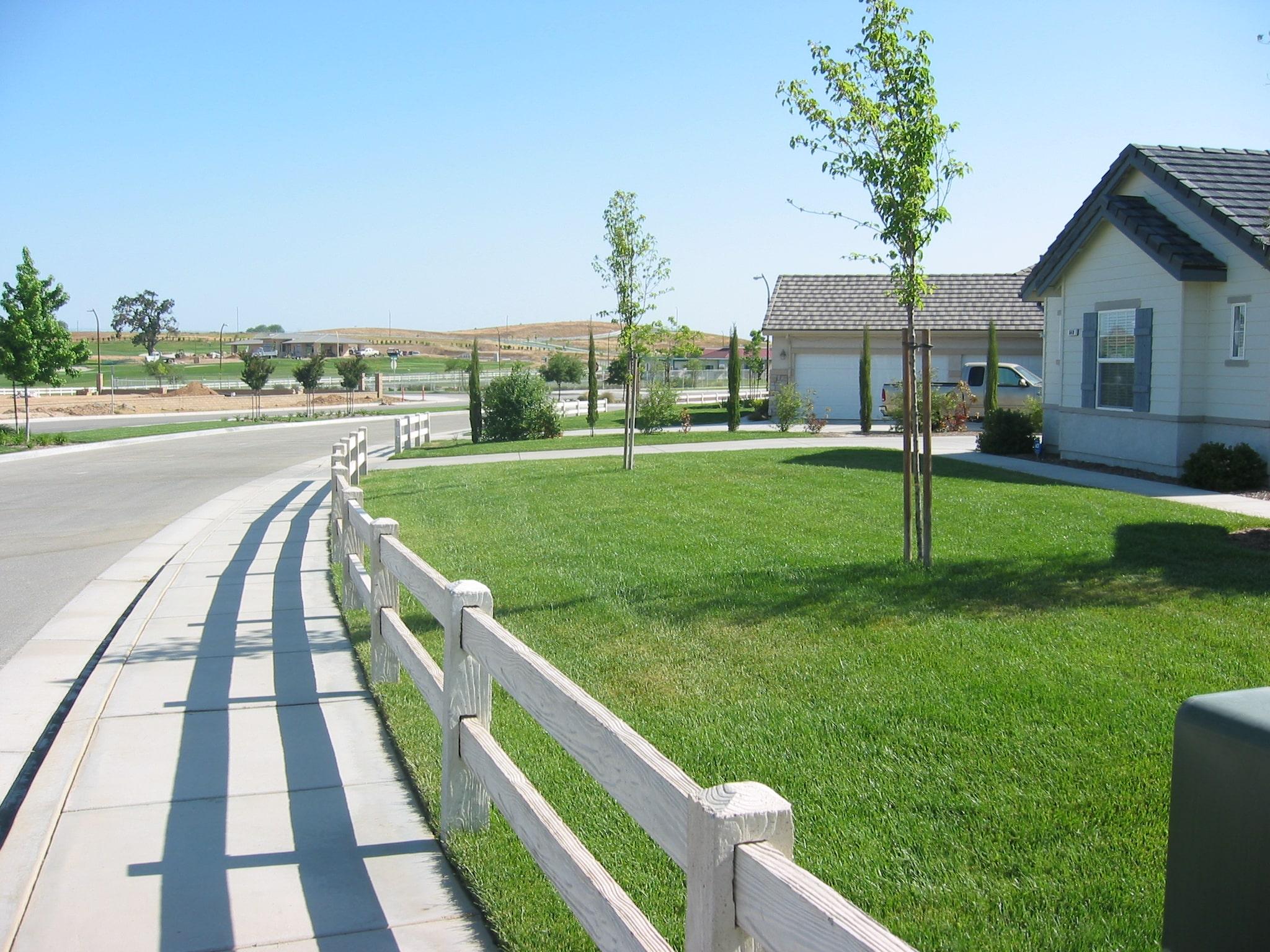 precast concrete fence front yard