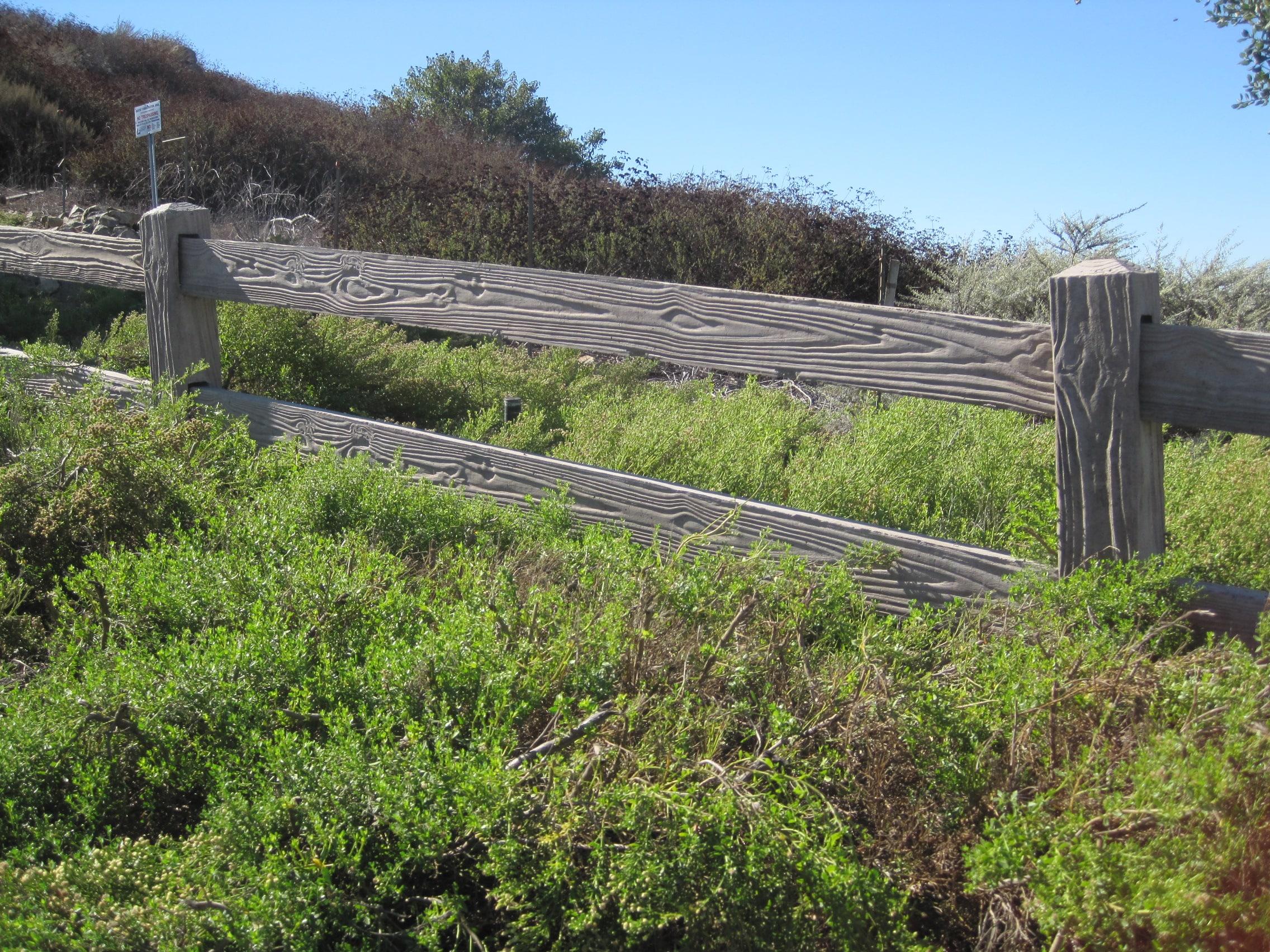 concrete rail fence 2-rail