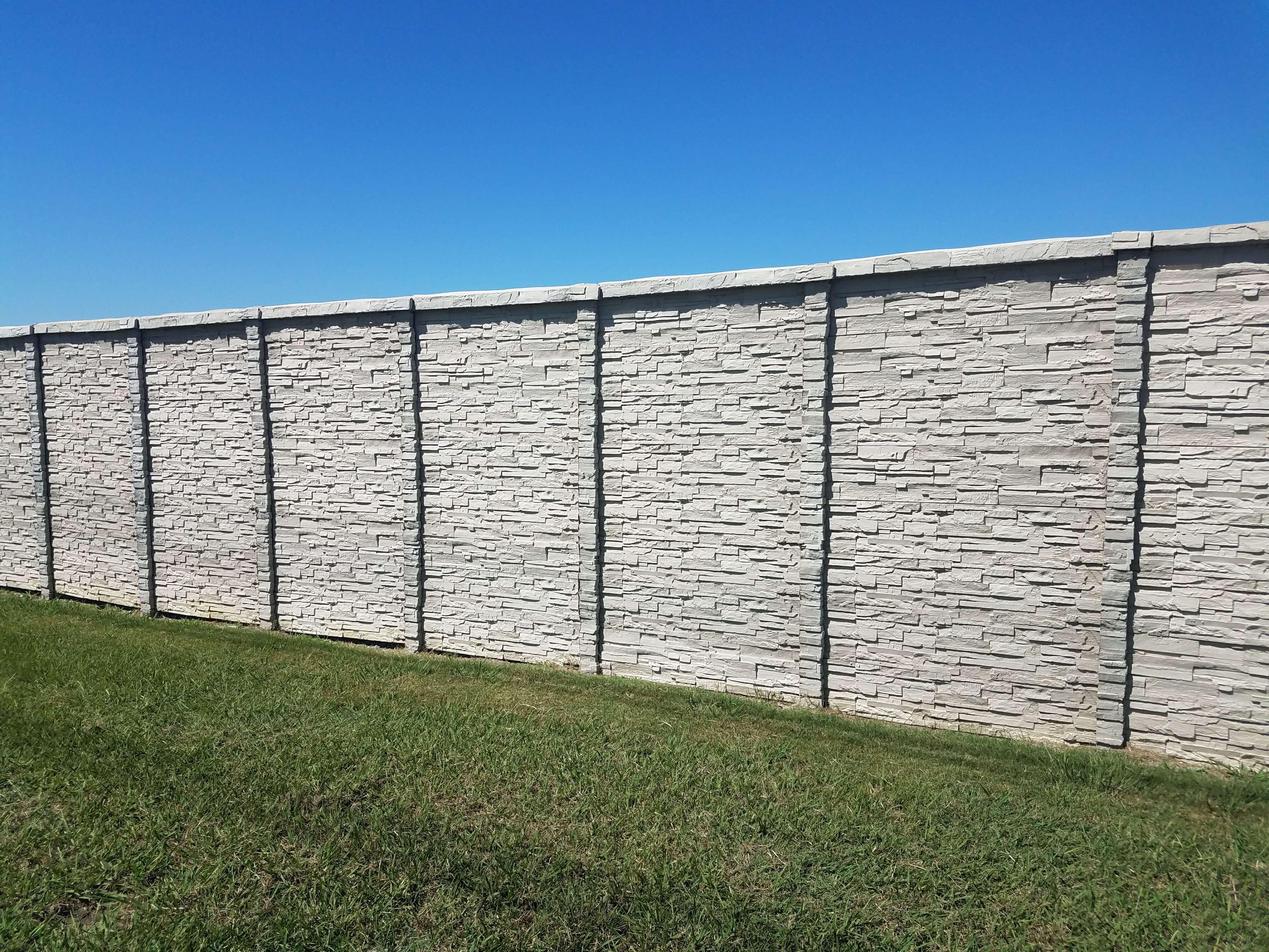 ChisleStone Concrete Fence dallas, TX
