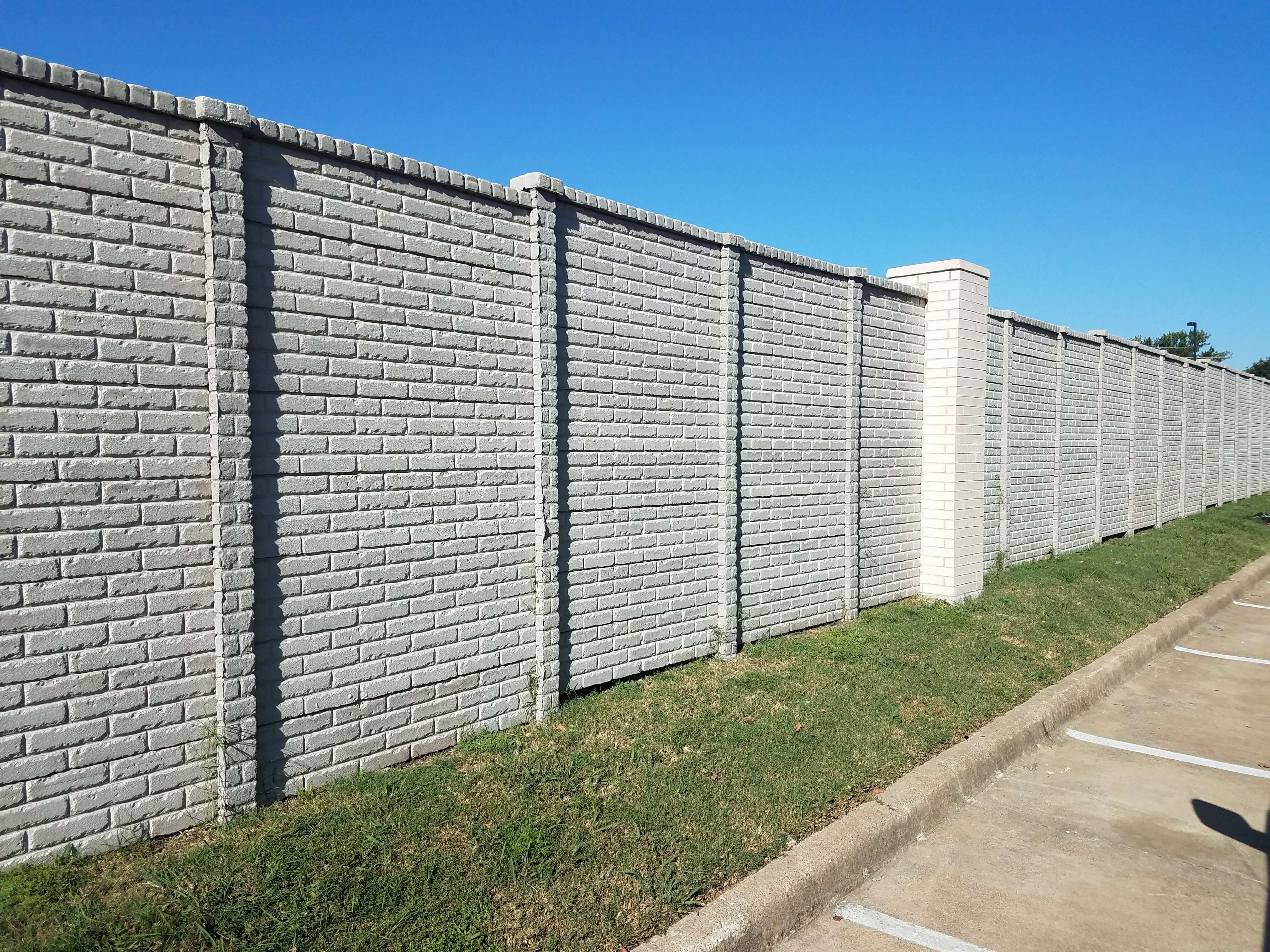 Brick Pattern Concrete Fence