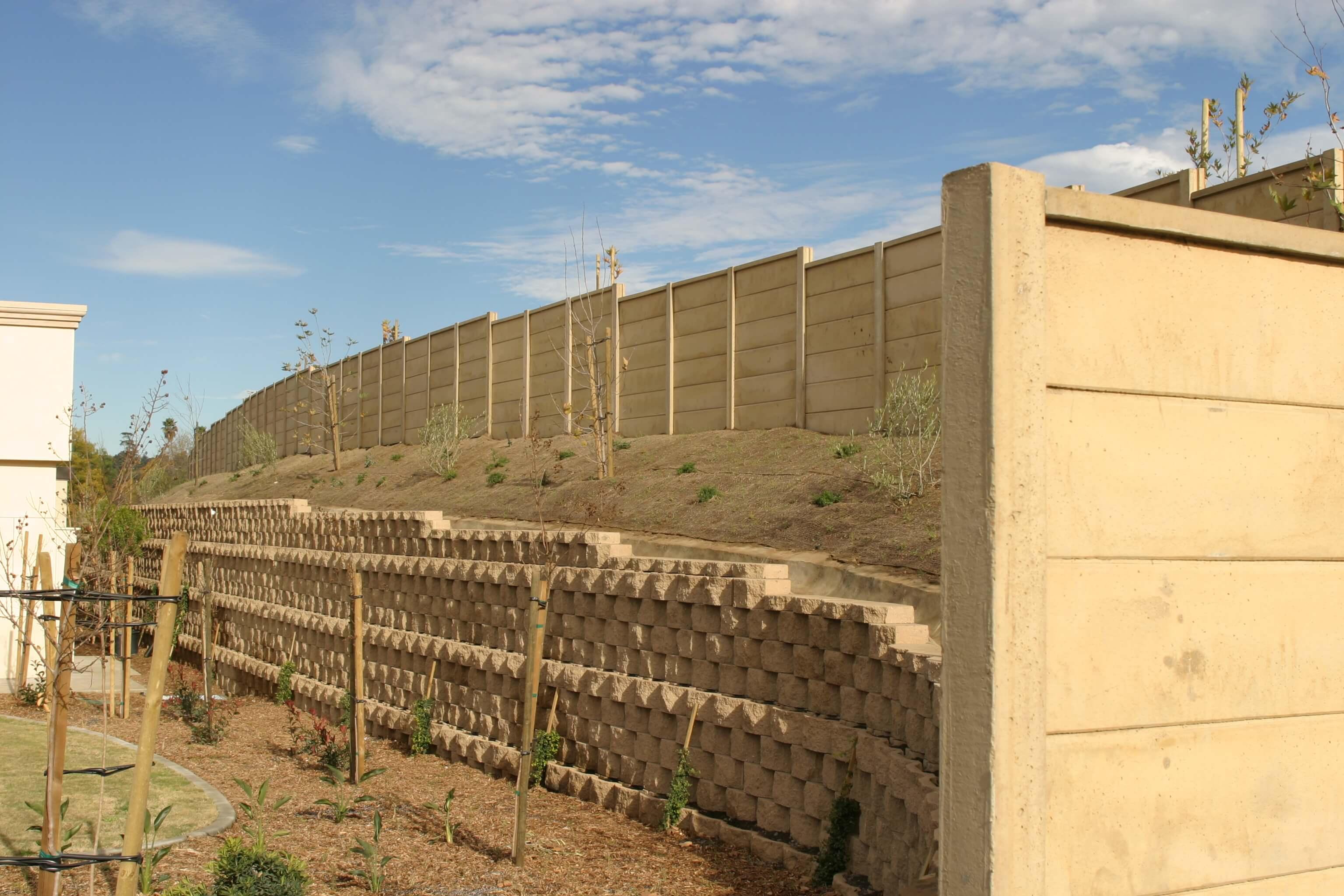 smoothcast concrete fence