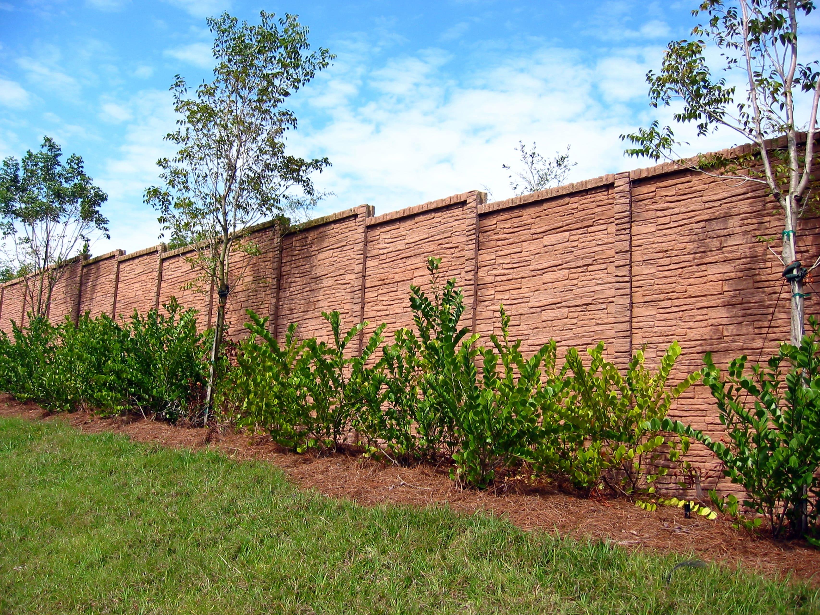 concrete fence backyard fence