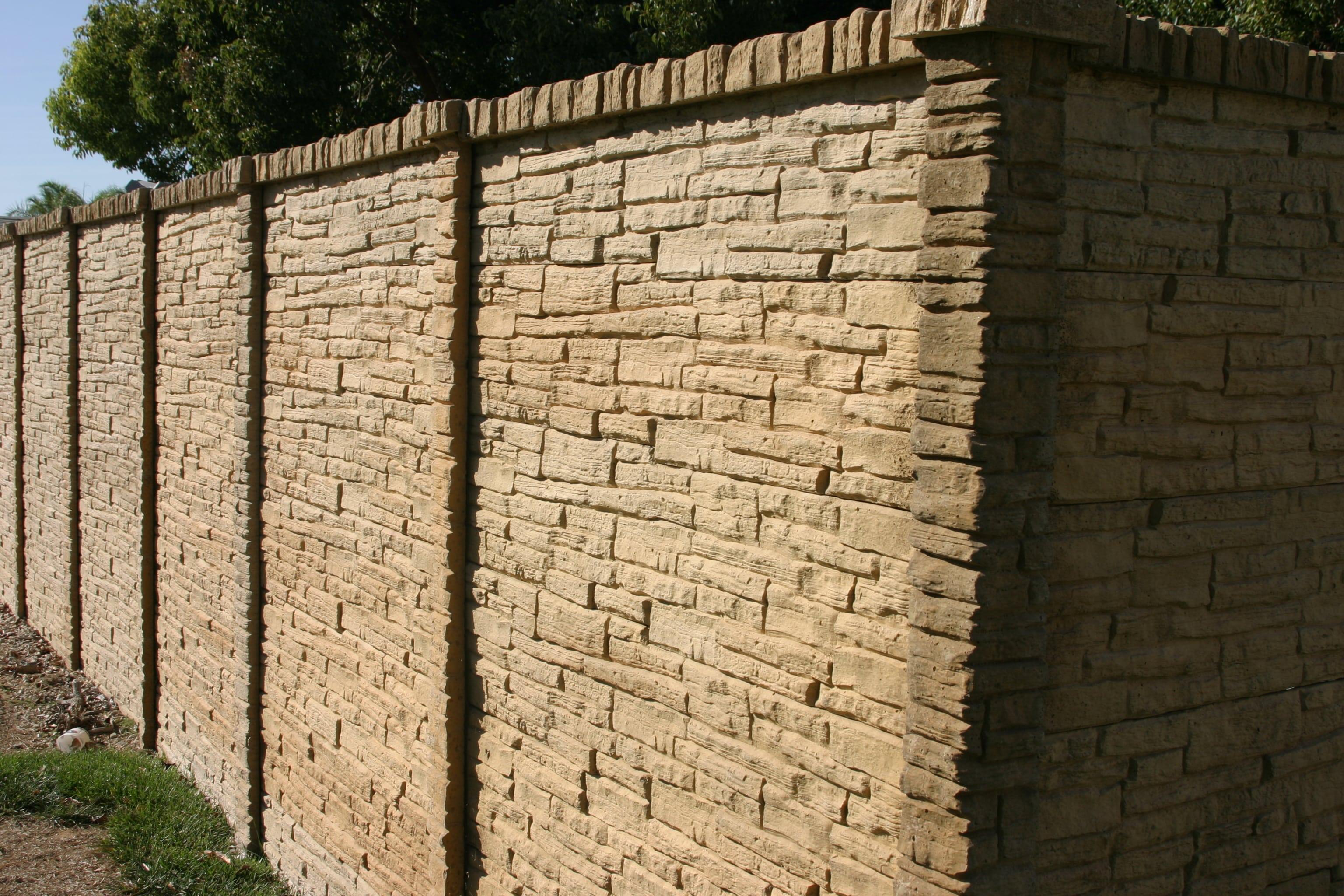 concrete fence panel fence