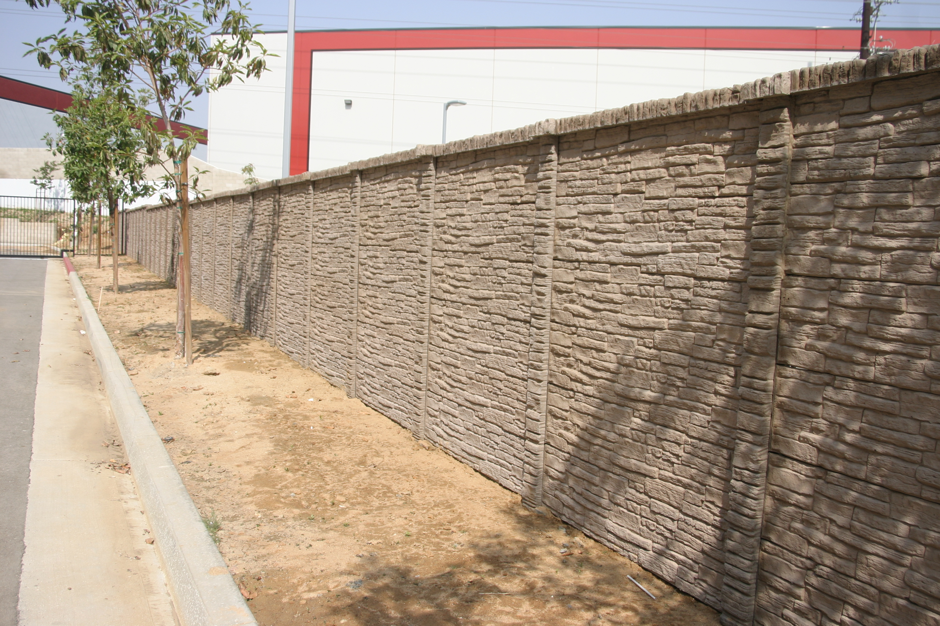 Concrete fence site wall