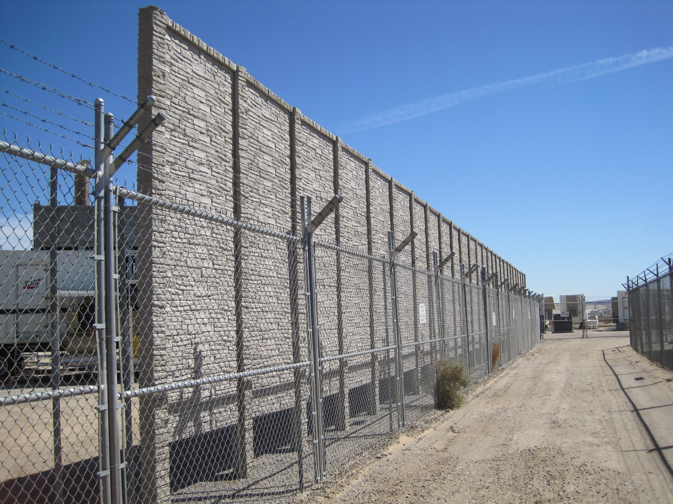 concrete fence public works security wall
