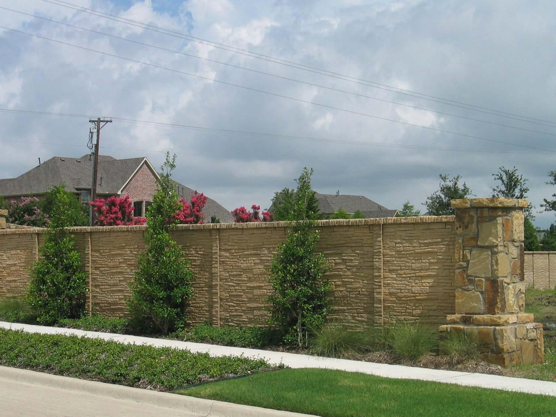 StackedStone Precast Fence  Austin, TX