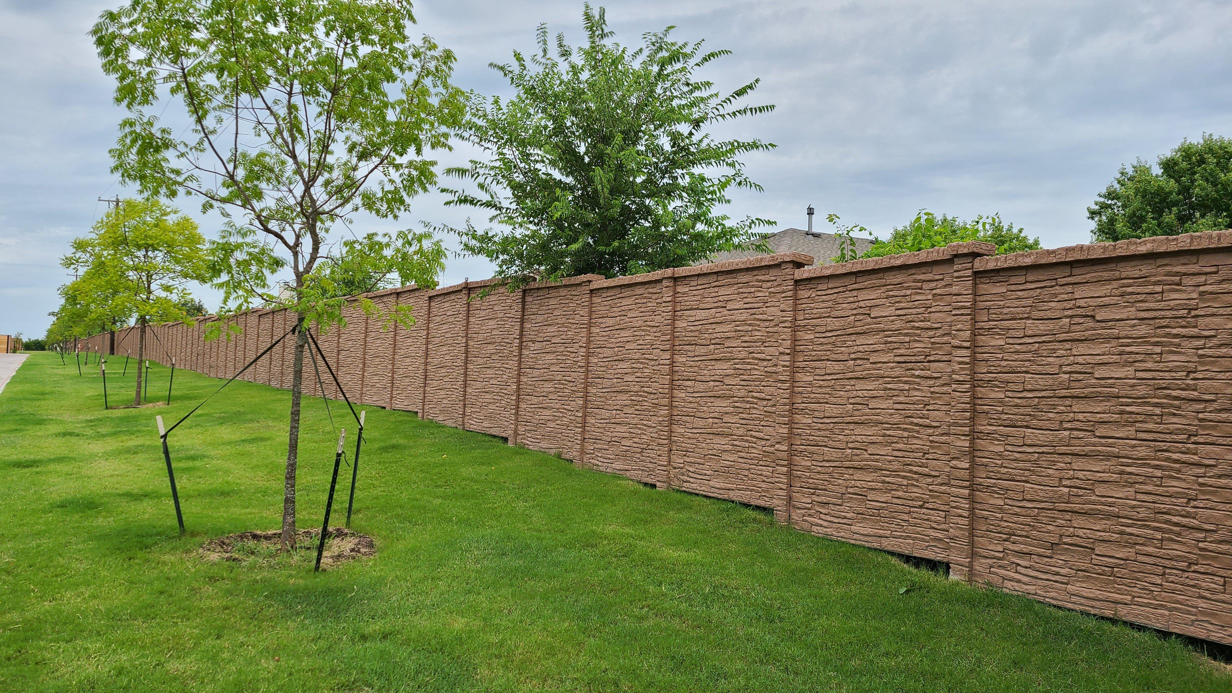precast concrete fence stone wall