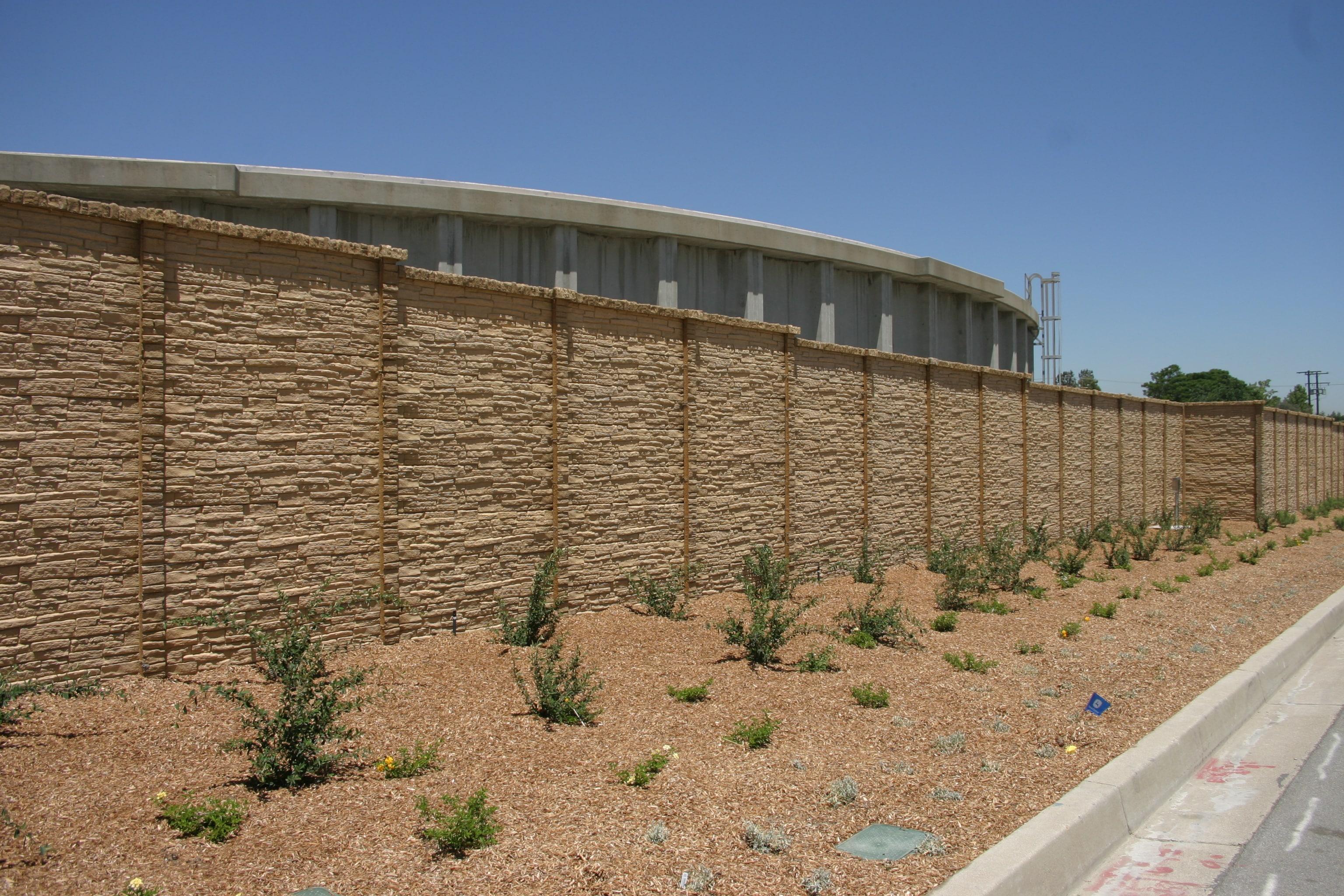 precast concrete screening wall
