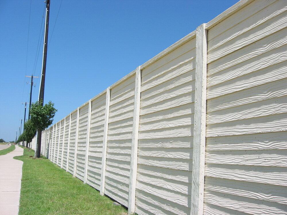 Concrete Fence Contractor installation 2