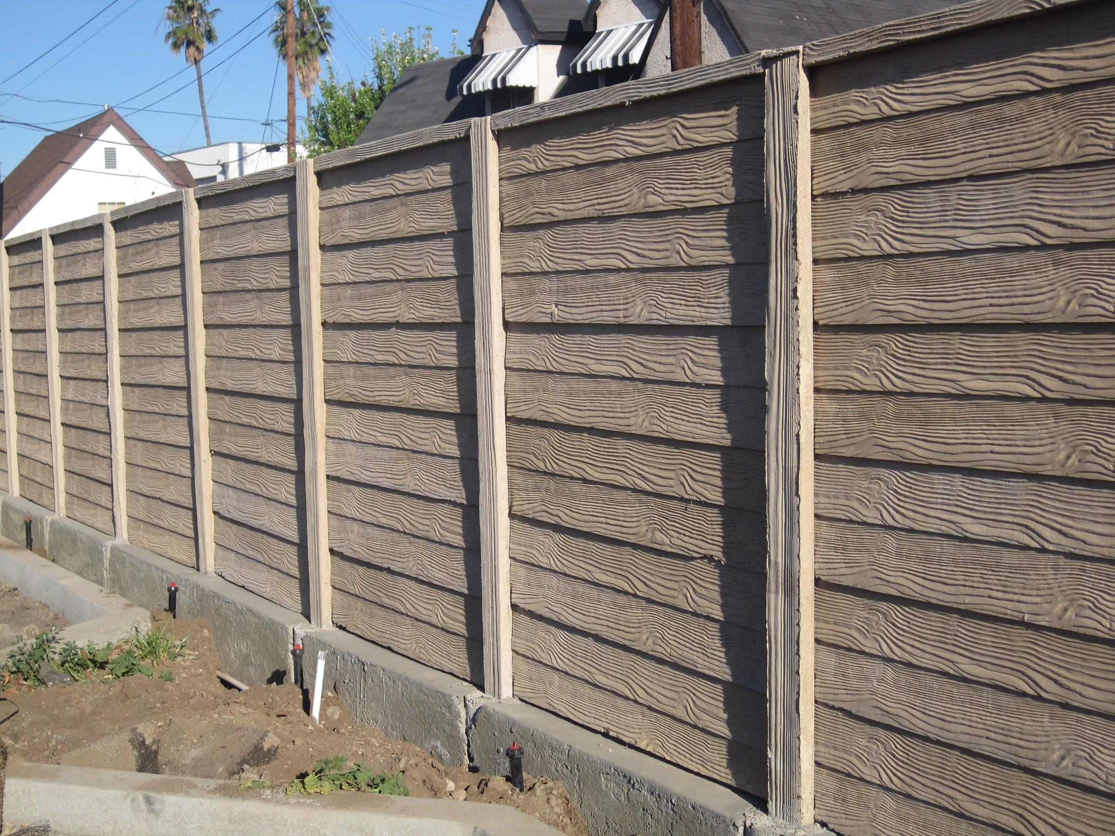 precast concrete screening wall wood texture