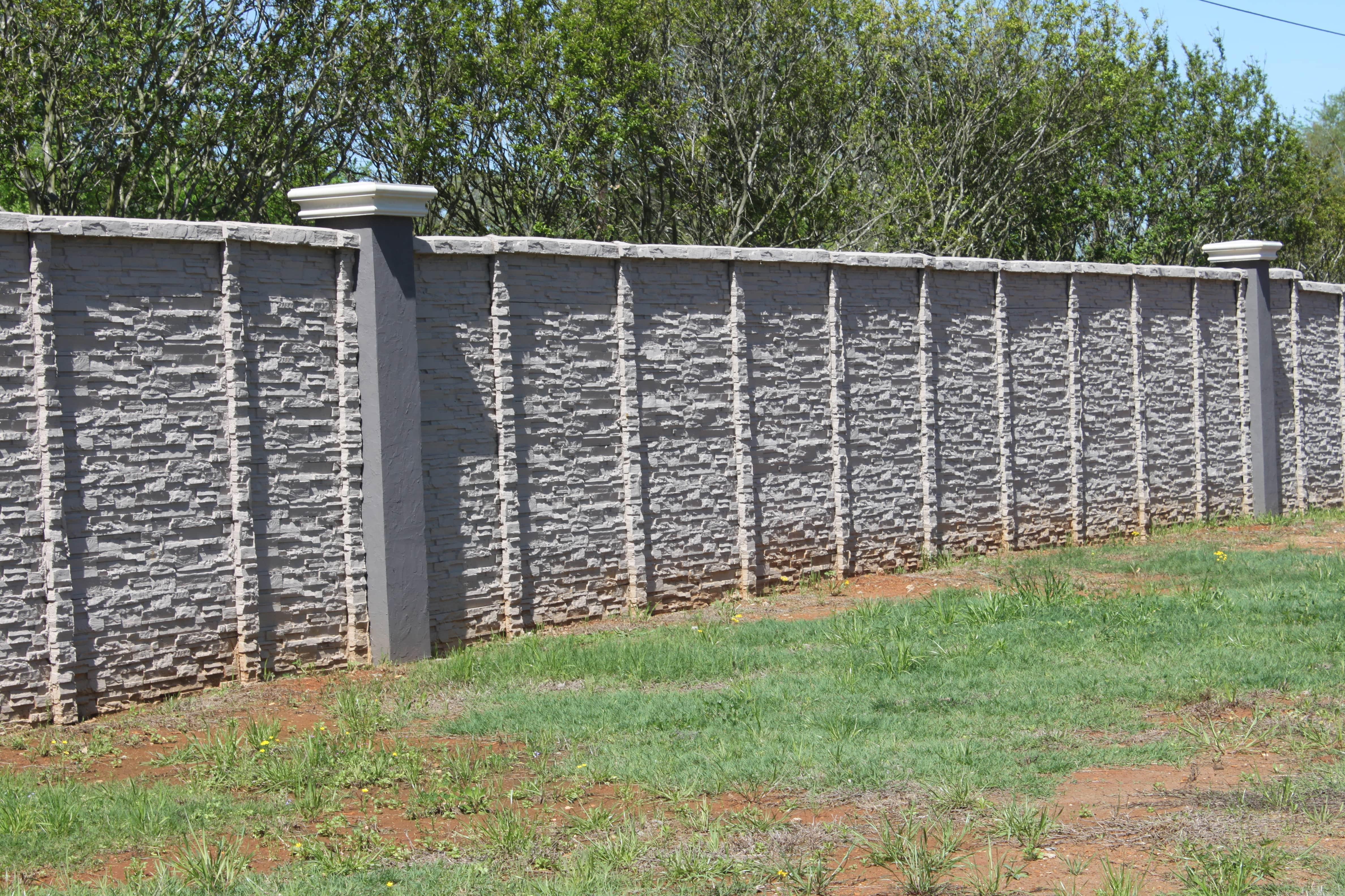 concrete fence stone masonry columns