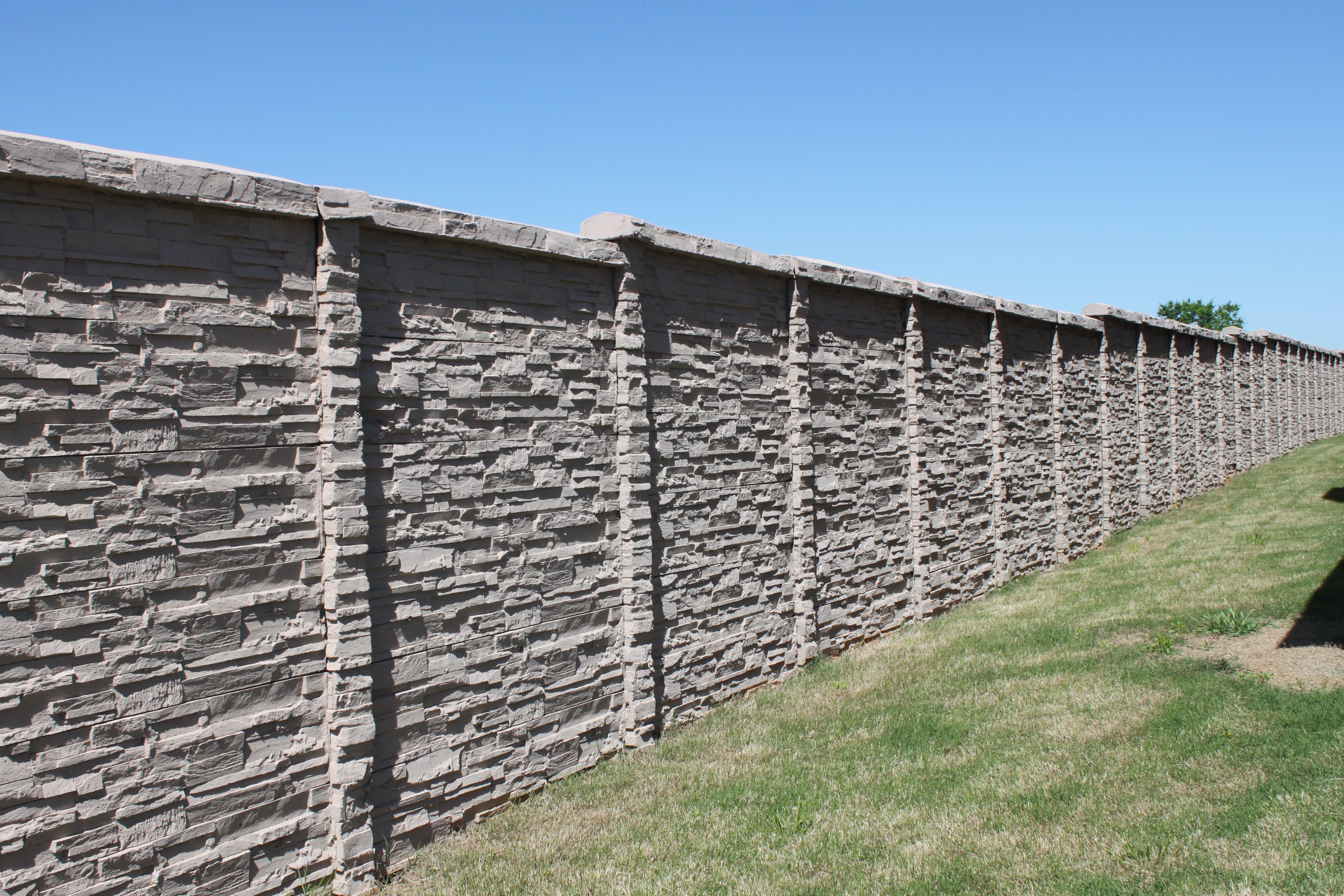 Precast Concrete Fence in a development