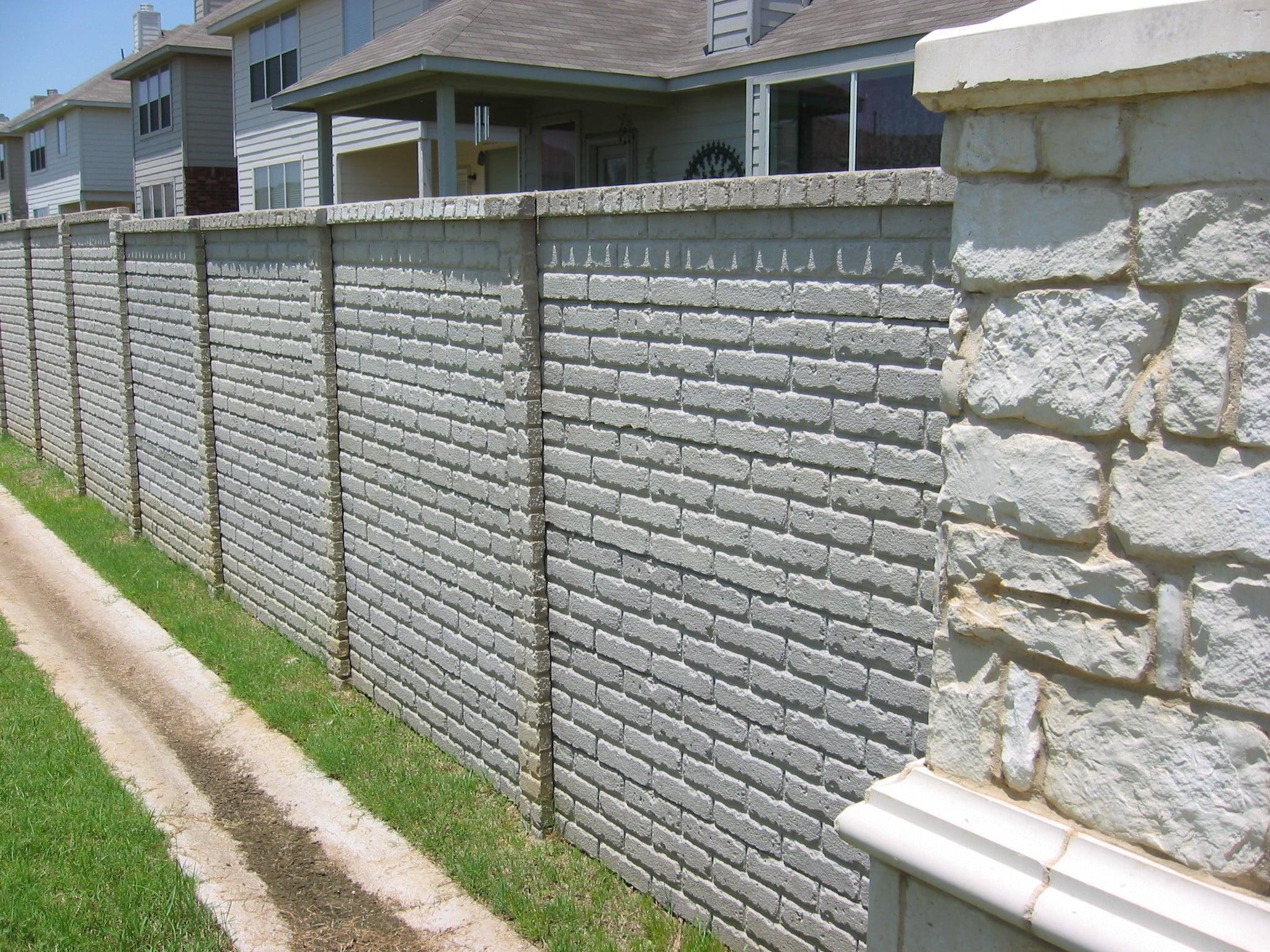 OldBrick Precast Fence Fort Worth TX-1