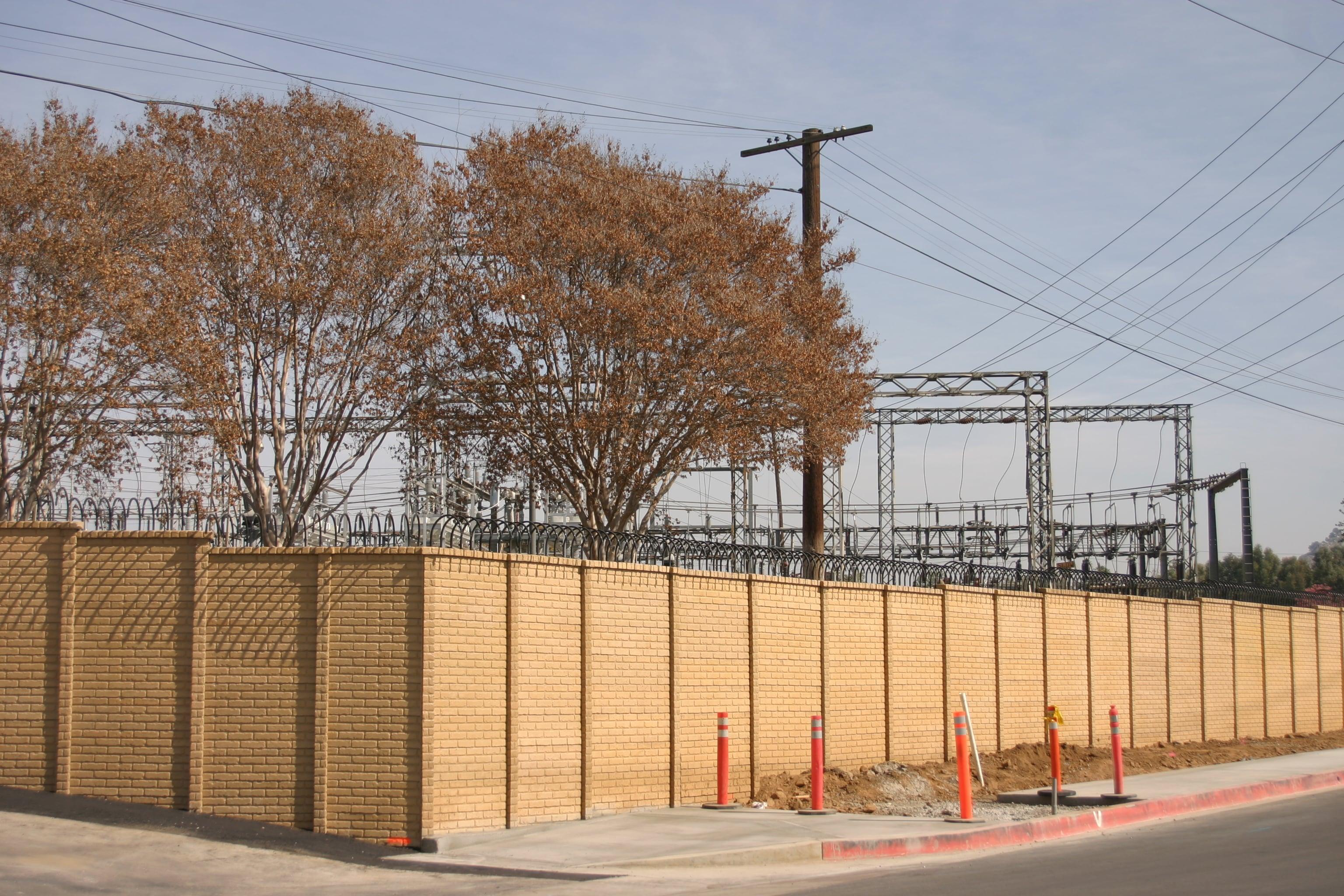 precast concrete screening wall utility substation
