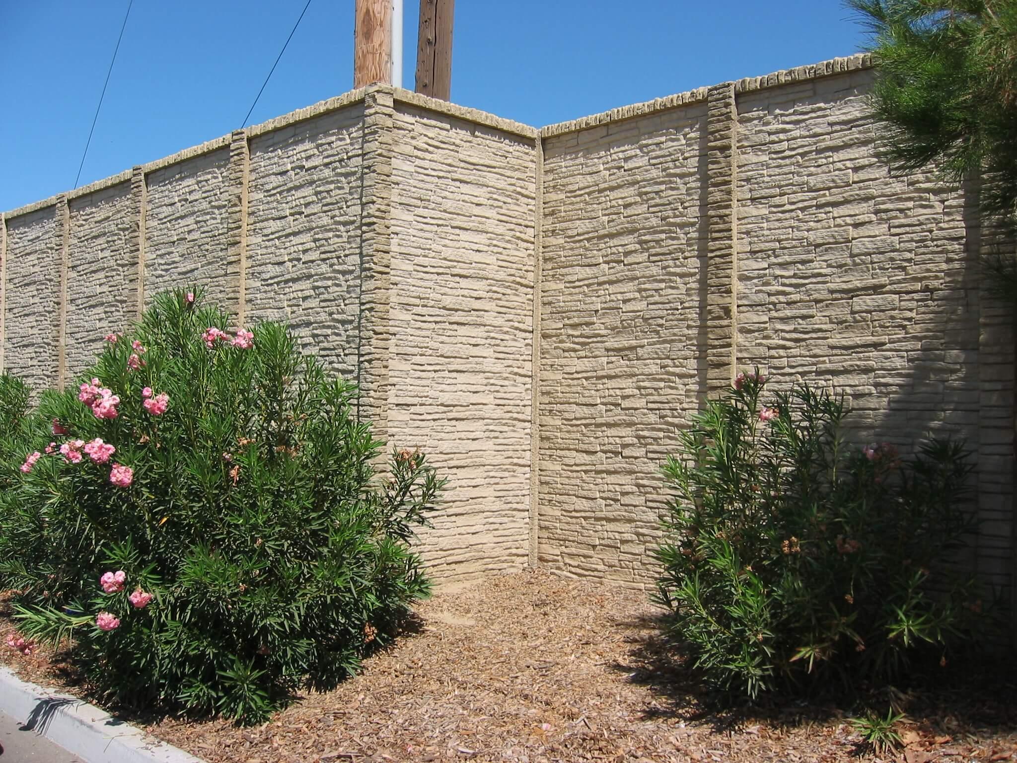 precast concrete fence screen wall