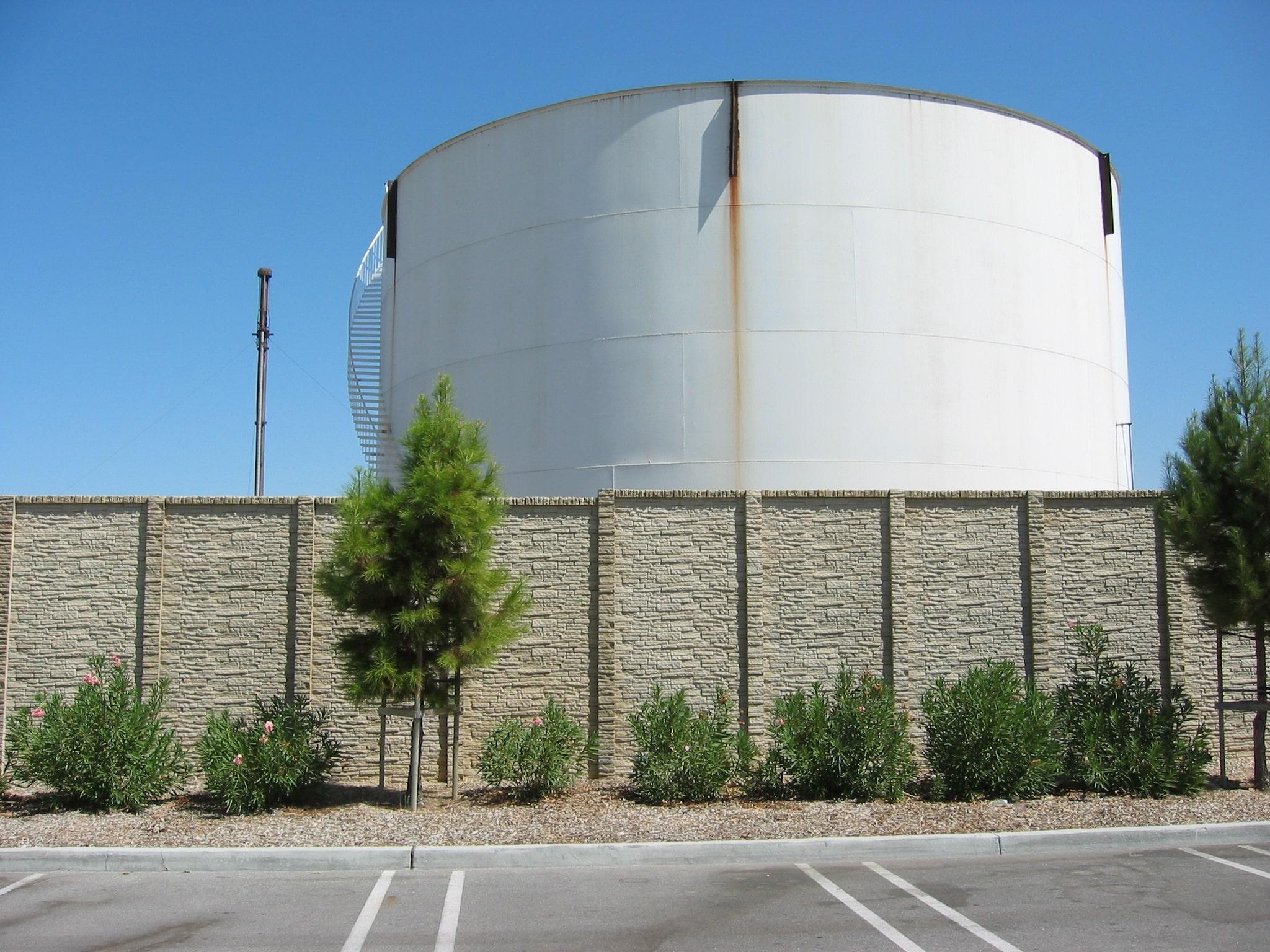 Concrete Fence Public Works Water Storage