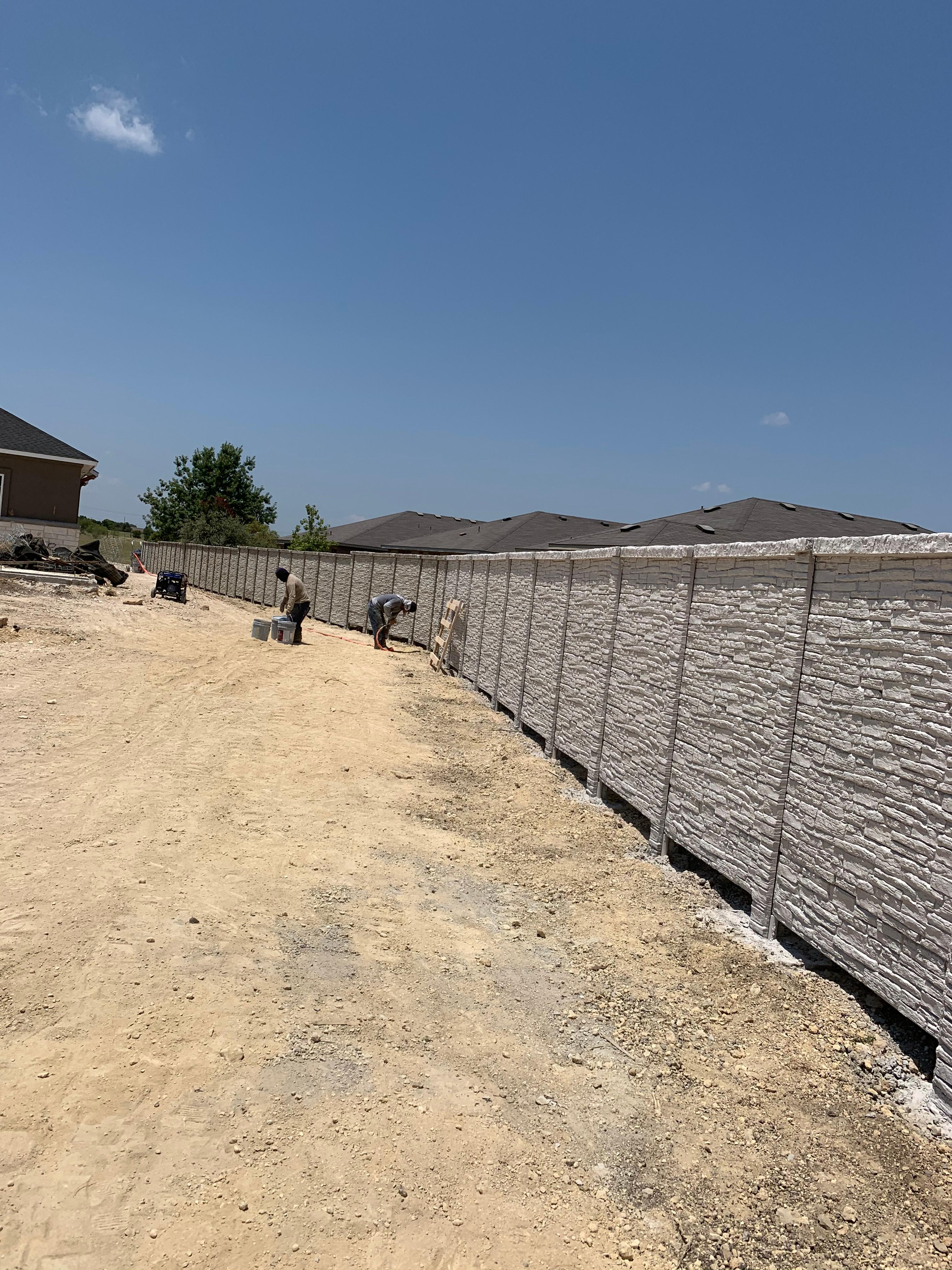 Concrete Fence Stone Pattern Leander TX