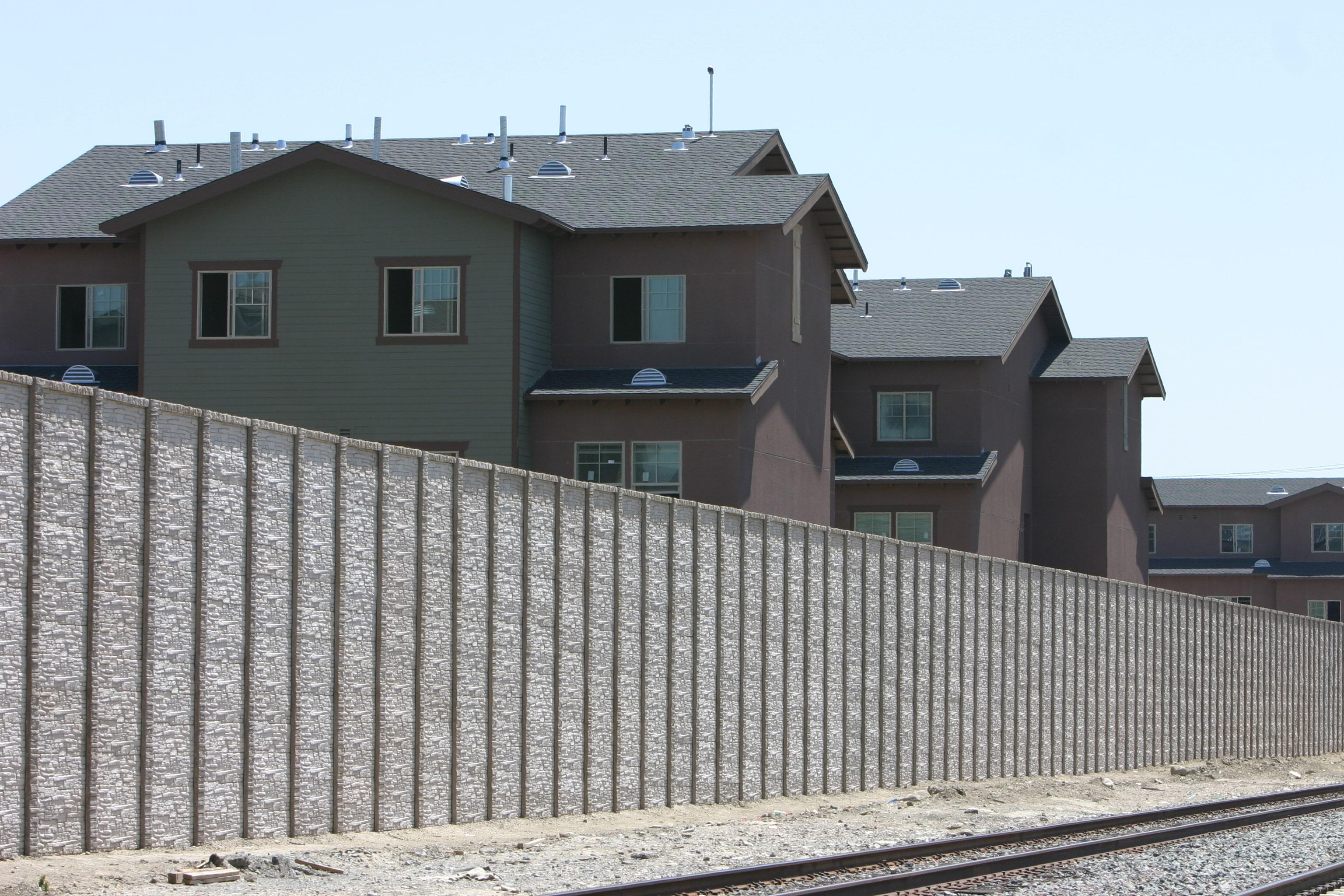 concrete fence sound wall
