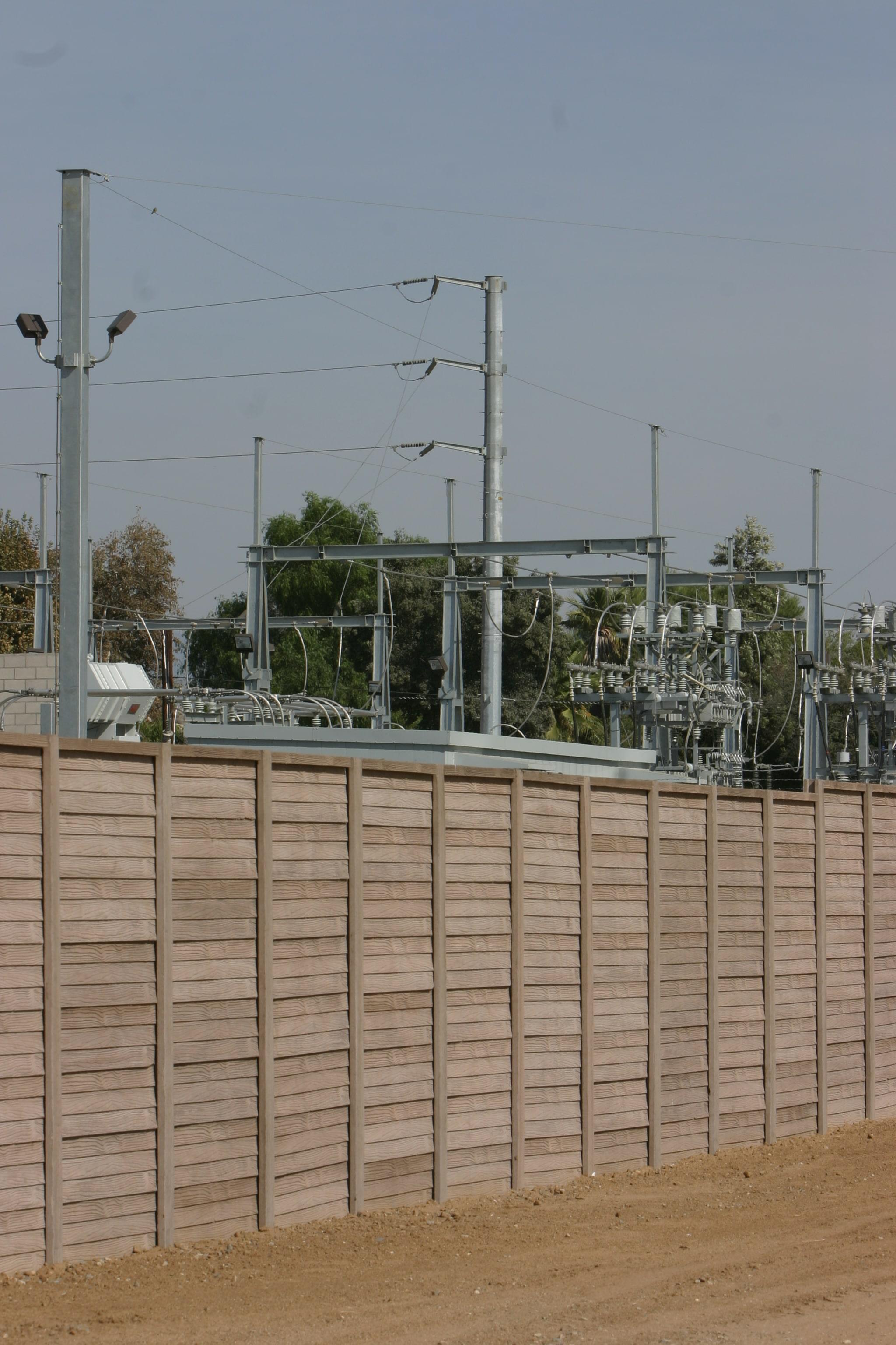 precast concrete fence utility substation